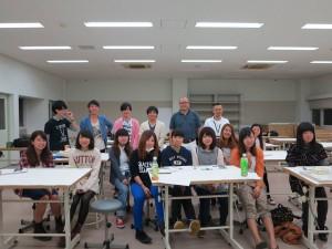大阪芸大DESIGNBOXの生徒さんと撮った最初の写真